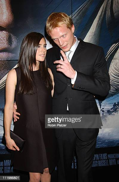 Jennifer Connelly and husband Paul Bettany during 'Master and Commander The Far Side of The World' New York Screening Arrivals at The Beekman Theatre...