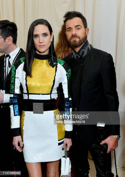 Jennifer Connelly and Justin Theroux attend The 2019 Met Gala Celebrating Camp: Notes on Fashion at Metropolitan Museum of Art on May 06, 2019 in New...