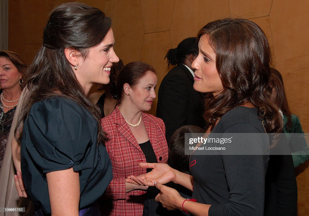 Jennifer Connelly and Leonor Varela during 'Innocent Voices' Premiere at the United Nations Headquarters at UN Headquarters in New York, NY, United States.