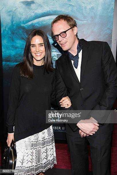 Jennifer Connelly and Paul Bettany arrive at the In The Heart Of The Sea New York Premiere at Frederick P Rose Hall Jazz at Lincoln Center on...