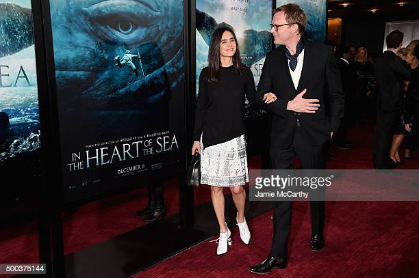 Jennifer Connelly and Paul Bettany attend In The Heart Of The Sea Premiere at Frederick P Rose Hall Jazz at Lincoln Center on December 7 2015 in New...