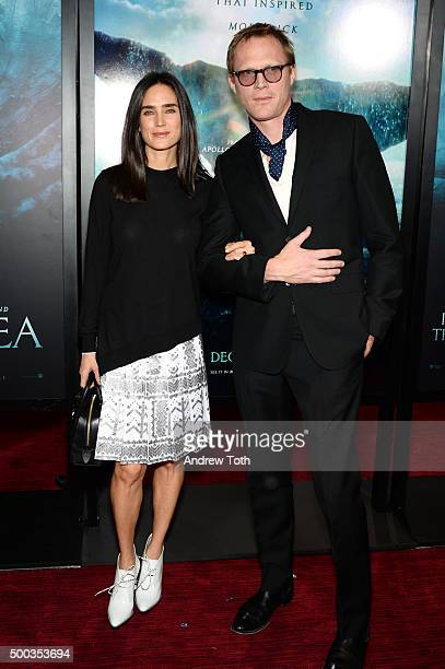 Jennifer Connelly and Paul Bettany attend In The Heart Of The Sea New York premiere at Frederick P Rose Hall Jazz at Lincoln Center on December 7...