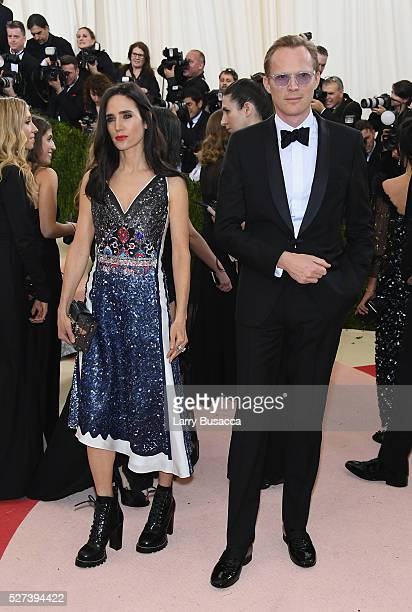 Jennifer Connelly and Paul Bettany attend the 'Manus x Machina Fashion In An Age Of Technology' Costume Institute Gala at Metropolitan Museum of Art...