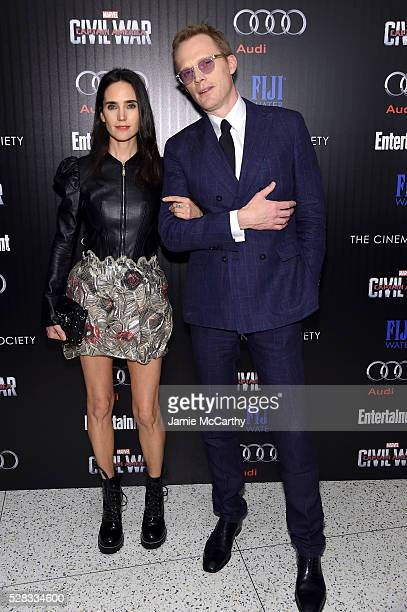 Jennifer Connelly and Paul Bettany attend the screening of Marvel's 'Captain America Civil War' hosted by The Cinema Society with Audi FIJI at Henry...