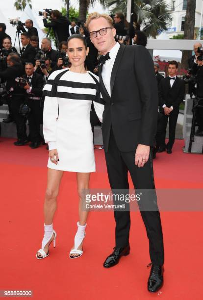 """Jennifer Connelly and Paul Bettany attend the screening of """"Solo: A Star Wars Story"""" during the 71st annual Cannes Film Festival at Palais des..."""