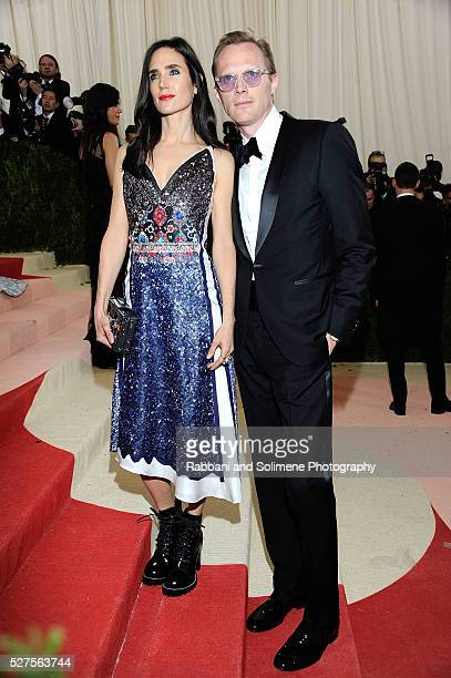 Jennifer Connelly and Paul Bettany attends Manus x Machina Fashion In An Age Of Technology Costume Institute Gala at
