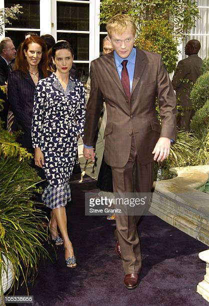 Jennifer Connelly and Paul Bettany during 11th Annual Premiere Women in Hollywood Luncheon at Four Seasons Hotel in Beverly Hills California United...