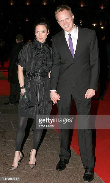 """Jennifer Connelly and Paul Bettany during """"Blood Diamond"""" London Premiere - Arrivals at Odeon Leicester Square in London, Great Britain."""