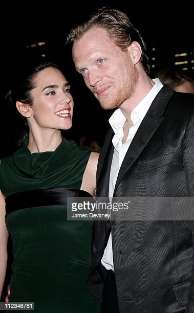 Jennifer Connelly and Paul Bettany during 'Blood Diamond' New York Premiere Outside Arrivals at MoMa in New York City New York United States
