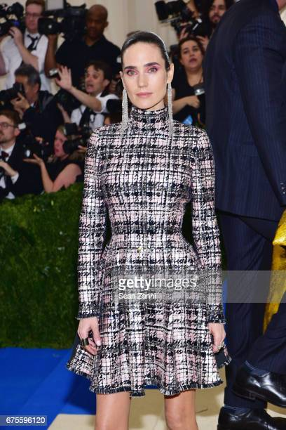 Jennifer Connelly arrives at 'Rei Kawakubo/Comme des Garcons Art Of The InBetween' Costume Institute Gala at The Metropolitan Museum on May 1 2017 in...