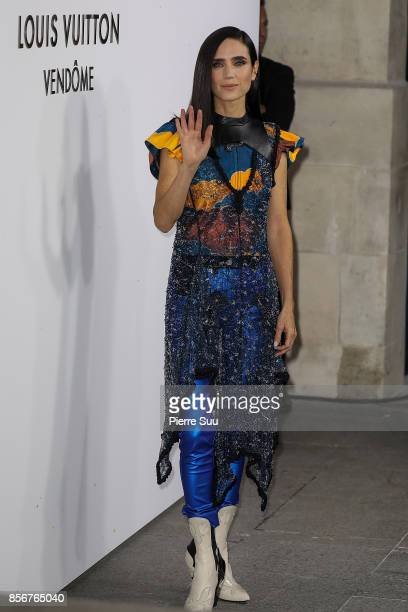 Jennifer Connelly arrives at the Opening Of The Louis Vuitton Boutique as part of the Paris Fashion Week Womenswear Spring/Summer 2018 on October 2...