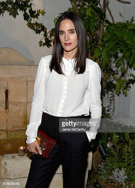 Jennifer Connelly attends The Cinema Society with Town Country host a special screening ff Sony Pictures Classics' 'Aloft' after party at Laduree...