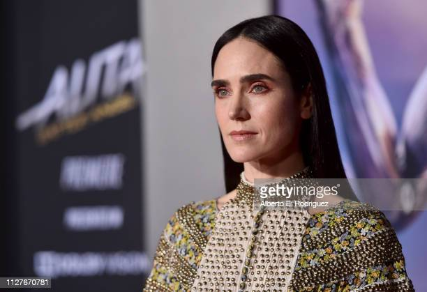 Jennifer Connelly attends the premiere of 20th Century Fox's Alita Battle Angel at Westwood Regency Theater on February 05 2019 in Los Angeles...