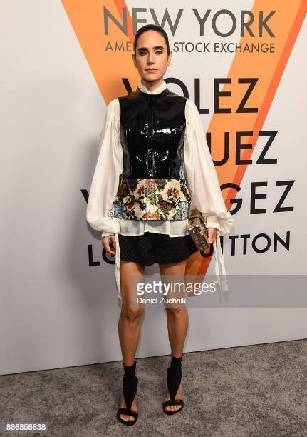 Jennifer Connelly attends the Volez Voguez Voyagez Louis Vuitton Exhibition Opening on October 26 2017 in New York City