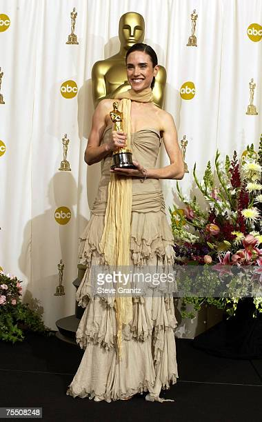 Jennifer Connelly Best Supporting Actress for 'A Beautiful Mind' at the Kodak Theater in Hollywood California