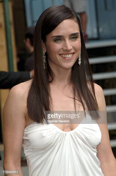 Jennifer Connelly during Jennifer Connelly Visits The Late Show with David Letterman June 30 2005 at Ed Sullivan Theater in New York City New York...