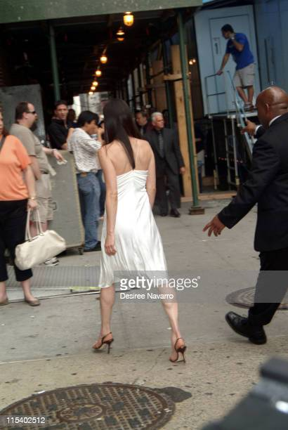 Jennifer Connelly during Jennifer Connelly Visits 'The Late Show with David Letterman' June 30 2005 at Ed Sullivan Theater in New York City New York...