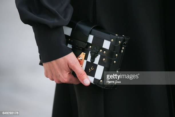 Jennifer Connelly handbag detail arrives at the Louis Vuitton show as part of the Paris Fashion Week Womenswear Fall/Winter 2017/2018 on March 7 2017...