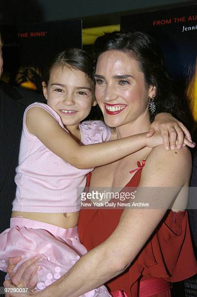 Jennifer Connelly holds little Ariel Gade at the Clearview Chelsea West Cinema on W 23rd St before the world premiere of 'Dark Water' They star in...
