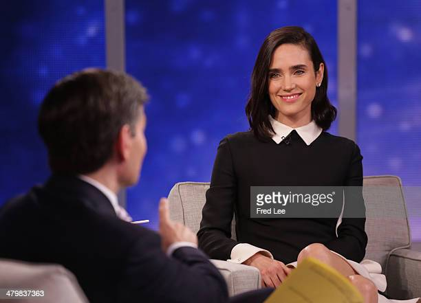 AMERICA Jennifer Connelly is a guest on Good Morning America 3/20/14 on the Walt Disney Television via Getty Images the Television Network