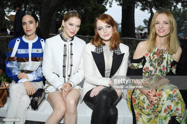 Jennifer Connelly Lea Seydoux Emma Stone and Delphine Arnault attend Louis Vuitton 2019 Cruise Collection at Fondation Maeght on May 28 2018 in...