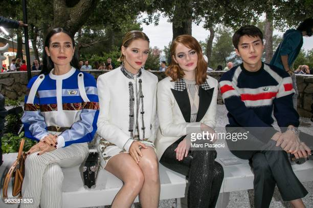 Jennifer Connelly Lea Seydoux Emma Stone and Se Hun attend Louis Vuitton 2019 Cruise Collection at Fondation Maeght on May 28 2018 in...
