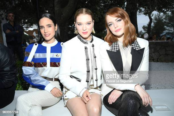 Jennifer Connelly Lea Seydoux Emma Stone attend Louis Vuitton 2019 Cruise Collection at Fondation Maeght on May 28 2018 in SaintPaulDeVence France