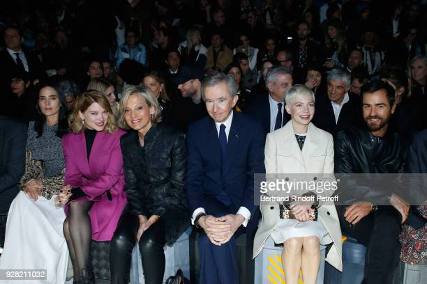 Jennifer Connelly Lea Seydoux Helene Arnault Owner of LVMH Luxury Group Bernard Arnault Michelle Williams and Justin Theroux attend the Louis Vuitton...