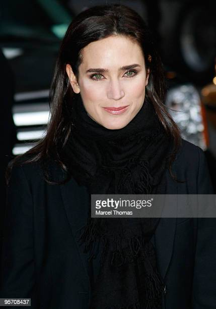 Jennifer Connelly visits Late Show With David Letterman at the Ed Sullivan Theater on January 11 2010 in New York City