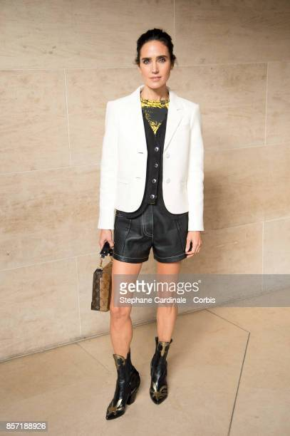 Jennifer Connely attends the Louis Vuitton show as part of the Paris Fashion Week Womenswear Spring/Summer 2018 at Musee du Louvre on October 3 2017...
