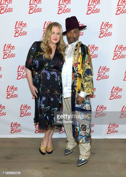 Jennifer Coolidge and Billy Porter attend the Paramount Pictures' Like A Boss Photocall at the Whitby Hotel on December 14 2019 in New York New York