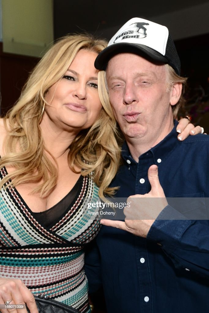 Jennifer Coolidge and Mike White attend the 'Dancing For NED' benefit for the Cedars Sinai Women's Cancer Program on May 4, 2013 in Los Angeles, California.