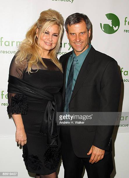 Jennifer Coolidge and president and cofounder of Farm Sanctuary Gene Baur attends Winter Wonderland for the Animals A Farm Sanctuary Benefit at the...