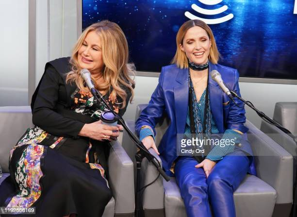 Jennifer Coolidge and Rose Byrne speak during SiriusXM's Town Hall with the cast of 'Like A Boss' hosted by Hoda Kotb at the SiriusXM Studio on...
