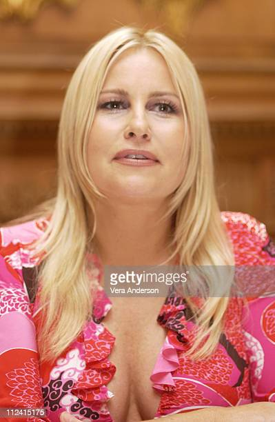 Jennifer Coolidge during Legally Blonde 2 Red White Blonde Press Conference with Reese Witherspoon Bob Newhart Jennifer Coolidge and Regina King at...