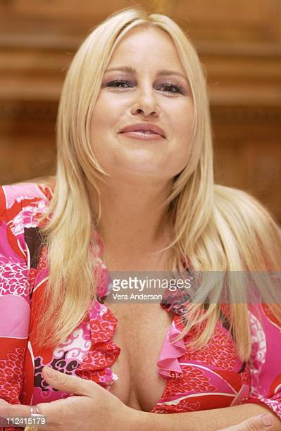 """Jennifer Coolidge during """"Legally Blonde 2: Red, White & Blonde"""" Press Conference with Reese Witherspoon, Bob Newhart, Jennifer Coolidge and Regina..."""