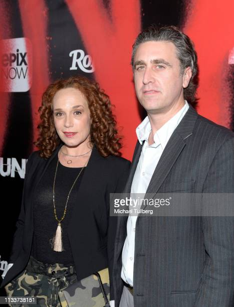 Jennifer Copping and director Jesse James Miller attend the Los Angeles premiere of the EPIX Original DocuSeries PUNK at SIR on March 04 2019 in Los...