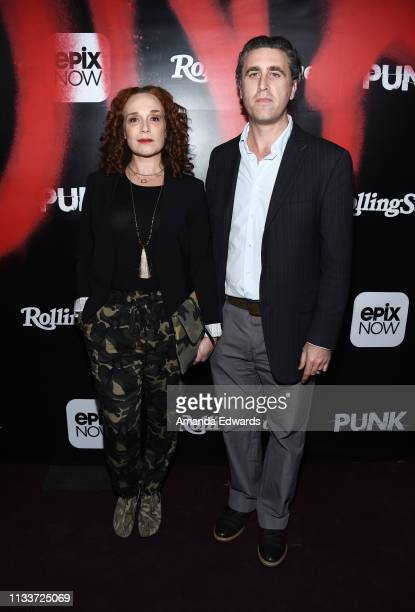 Jennifer Copping and Jesse James Miller arrive at the premiere of Epix's Punk at SIR on March 04 2019 in Los Angeles California