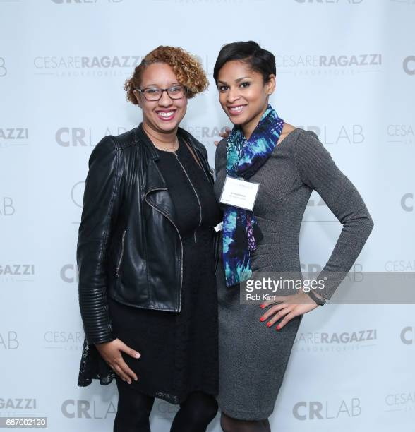 Jennifer Corcino and Jericka Duncan attend Cesare Ragazzi USA Launch Event at Hotel on Rivington on May 22 2017 in New York City