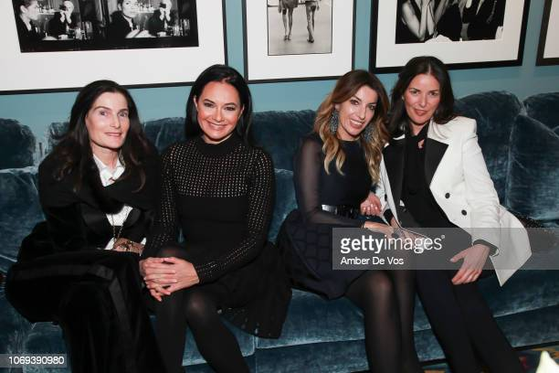 Jennifer Creel D Lisa Airan Giulia Azmoudeh and Ann Caruso attend a Holiday Fete hosted by Cornelia Guest And John Demsey at a Private Residence on...