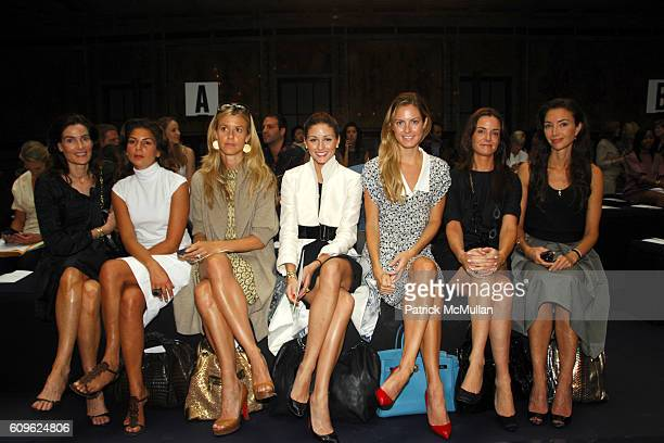 Jennifer Creel Eva Lorenzotti Eleanor Ylvisaker Olivia Palermo Ferebee Bishop Taube Annie Churchill and Olivia Chantecaille attend MALO Spring 2008...