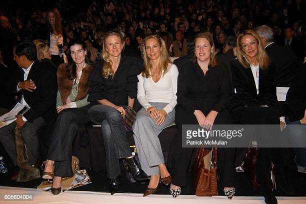 Jennifer Creel Gigi Mortimer Valesca GuerrandHermes Marjorie Raein and Cece Cord attend Michael Kors Fall 2006 Fashion Show at The Tent at Bryant...