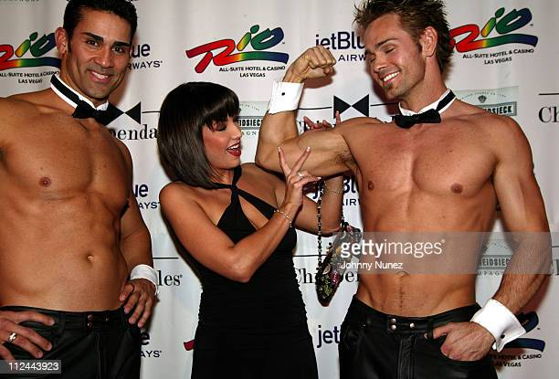 Jennifer Crisafulli and Chippendales Dancers during Opening Night of Chippendales at The Rio in Las Vegas at Rio all Suite Hotel and Casino in Las...