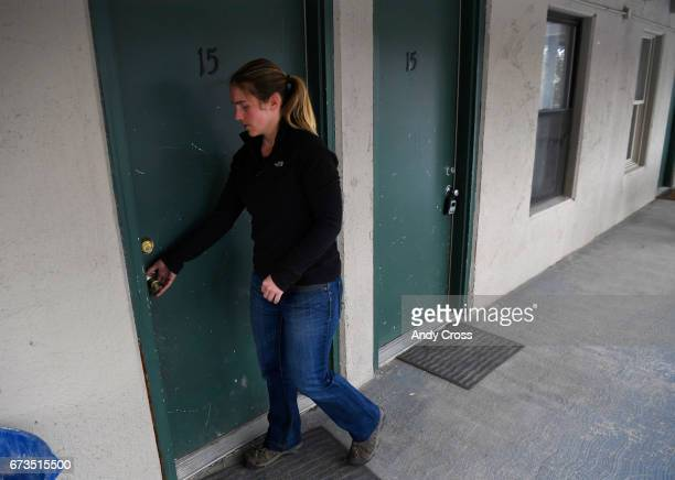 Jennifer DahirKanehl enters her condo April 26 2017 in Breckenridge Colorado DahirKanehl uses an extra room attached to her condo with a separate...