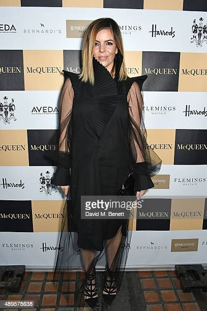 Jennifer Davies attends the exclusive viewing of 'McQueen' hosted by Karim Al Fayed for Lonely Rock Investments during London Fashion Week at Theatre...