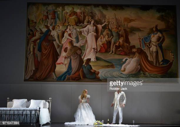 30** Jennifer Davis as Elsa von Brabant and Klaus Florian Vogt as Lohengrin in Richard Wagner's Lohengrin directed by David Alden and conducted by...
