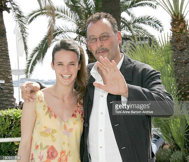 Jennifer Decker and Jean Reno during 2005 Cannes Film Festival Flyboys Press Conference at Martinez Hotel in Cannes France