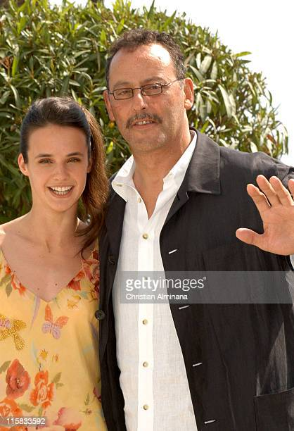 Jennifer Decker and Jean Reno during 2005 Cannes Fim Festival Flyboys Photocall at Hotel Martinez in Cannes France