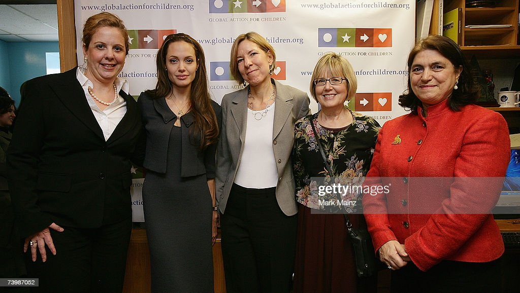 Angelina Jolie Launches Global Action For Children : News Photo
