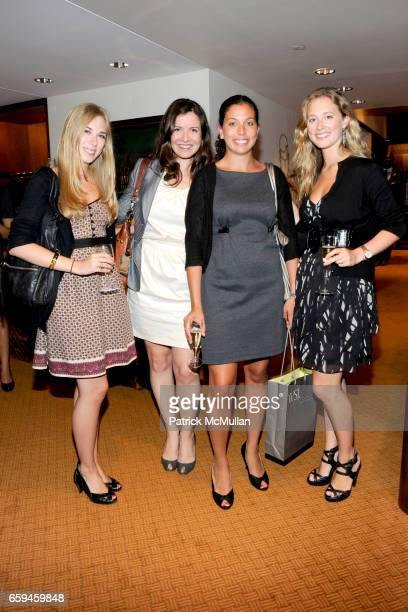 Jennifer Digiuseppe Gillian Maxwell Jennifer Tucker and Caitlin Flesher attend PAUL STUART and WALL STREET JOURNAL host FASHION'S NIGHT OUT at 45th...